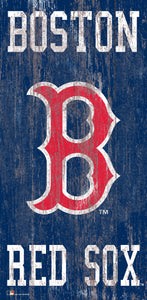 "Boston Red Sox Heritage Logo Wood Sign - 6""x12"""