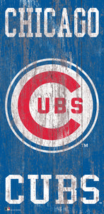 "Chicago Cubs Heritage Logo Wood Sign - 6""x12"""