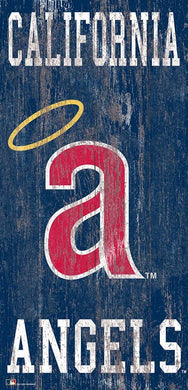 Los Angeles Angels  Heritage Logo Wood Sign - 6