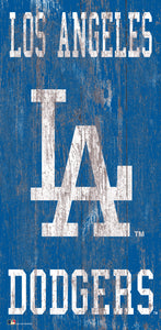 "Los Angeles Dodgers Heritage Logo Wood Sign - 6""x12"""