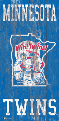 Minnesota Twins  Heritage Logo Wood Sign - 6