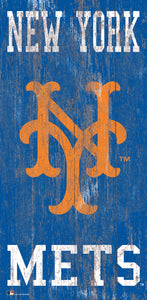 "New York Mets Heritage Logo Wood Sign - 6""x12"""