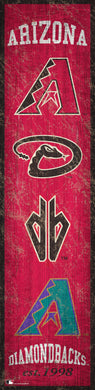 Arizona Diamondbacks Heritage Banner Wood Sign - 6