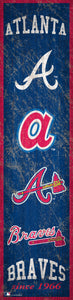 "Atlanta Braves Heritage Banner Wood Sign - 6""x24"""