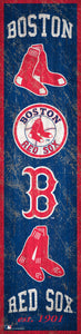 "Boston Red Sox Heritage Banner Wood Sign - 6""x24"""