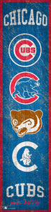 "Chicago Cubs Heritage Banner Wood Sign - 6""x24"""