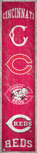 "Cincinnati Reds Heritage Banner Wood Sign - 6""x24"""