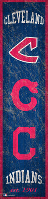 Cleveland Indians Heritage Banner Wood Sign - 6