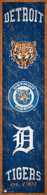 Detroit Tigers Heritage Banner Wood Sign - 6