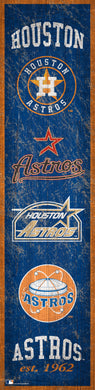 Houston Astros Heritage Banner Wood Sign - 6