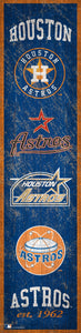 "Houston Astros Heritage Banner Wood Sign - 6""x24"""