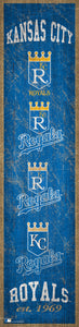 "Kansas City Royals Heritage Banner Wood Sign - 6""x24"""