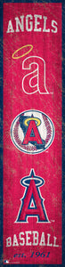 "Los Angeles Angels Heritage Banner Wood Sign - 6""x24"""