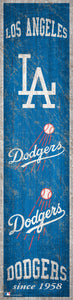 "Los Angeles Dodgers Heritage Banner Wood Sign - 6""x24"""