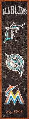 Miami Marlins Heritage Banner Wood Sign - 6
