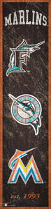 "Miami Marlins Heritage Banner Wood Sign - 6""x24"""