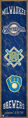 Milwaukee Brewers Heritage Banner Wood Sign - 6