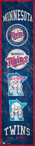 "Minnesota Twins Heritage Banner Wood Sign - 6""x24"""