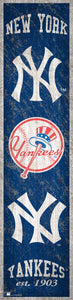 "New York Yankees Heritage Banner Wood Sign - 6""x24"""