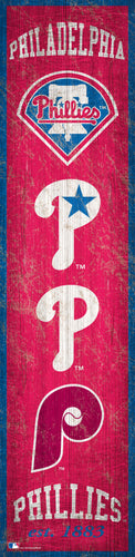 Philadelphia Phillies Heritage Banner Wood Sign - 6