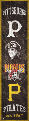 Pittsburgh Pirates Heritage Banner Wood Sign - 6