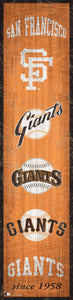"San Francisco Giants Heritage Banner Wood Sign - 6""x24"""