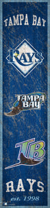 "Tampa Bay Rays Heritage Banner Wood Sign - 6""x24"""