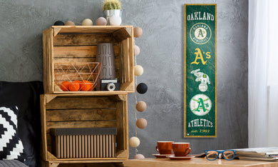 Oakland Athletics Heritage Banner Wood Sign - 6