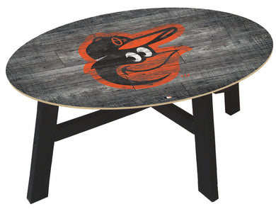 Baltimore Orioles Distressed Wood Coffee Table