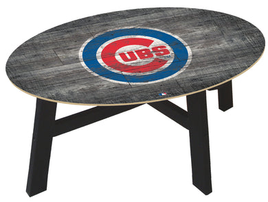 Chicago Cubs  Distressed Wood Coffee Table