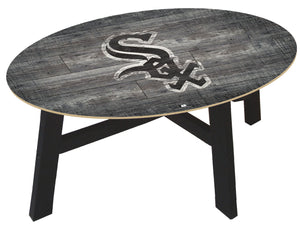 Chicago White Sox Distressed Wood Coffee Table