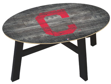 Cleveland Indians Distressed Wood Coffee Table
