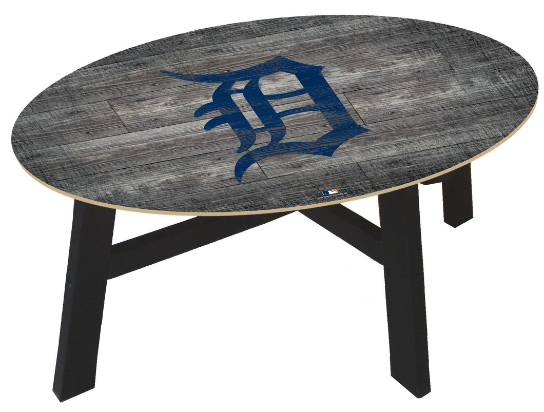 Detroit Tigers Distressed Wood Coffee Table