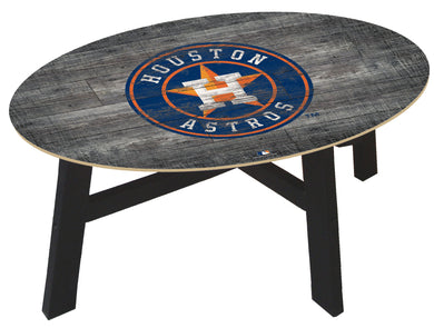 Houston Astros Distressed Wood Coffee Table