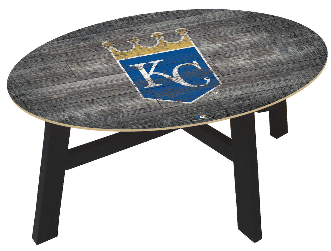 Kansas City Royals Distressed Wood Coffee Table