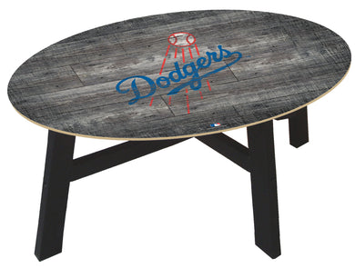 Los Angeles Dodgers Distressed Wood Coffee Table