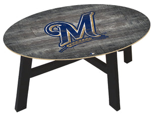 Milwaukee Brewers Distressed Wood Coffee Table