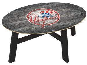 New York Yankees Distressed Wood Coffee Table