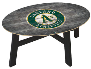 Oakland Athletics Distressed Wood Coffee Table
