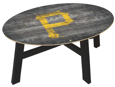 Pittsburgh Pirates Distressed Wood Coffee Table