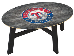 Texas Rangers Distressed Wood Coffee Table
