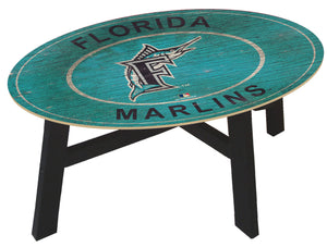Miami Marlins Heritage Logo Coffee Table