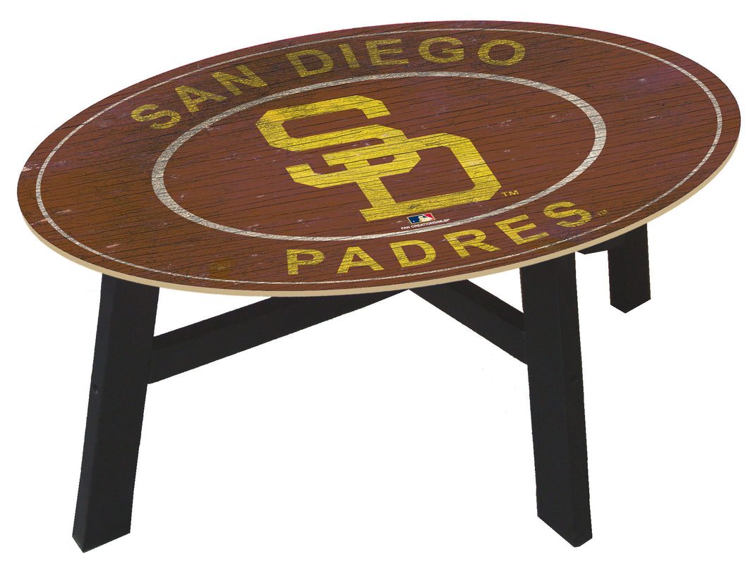 San Diego Padres Heritage Logo Coffee Table
