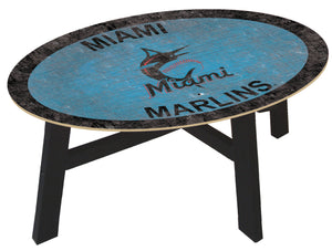 Miami Marlins Logo Coffee Table