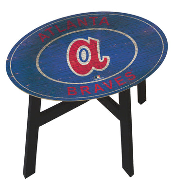 Atlanta Braves Heritage Logo Wood Side Table