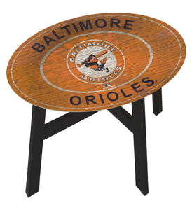 Baltimore Orioles Heritage Logo Wood Side Table