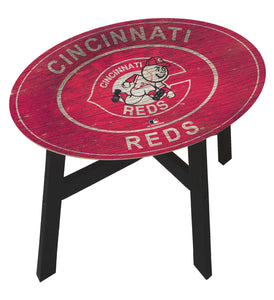 Cincinnati Reds Heritage Logo Wood Side Table