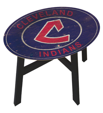 Cleveland Indians Heritage Logo Wood Side Table