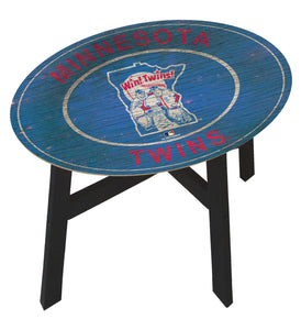 Minnesota Twins Heritage Logo Wood Side Table