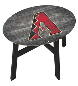 Arizona Diamondbacks Distressed Logo Wood Side Table